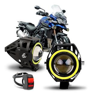Par Farol Milha Angel Eyes Led Moto Bmw G650 F800 Gs R1200