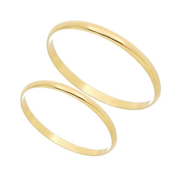 Aliança Compromisso Noivado Casamento Ouro Maciço 18k