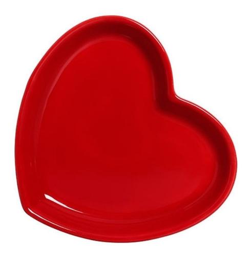 Pratinho Coração Vermelho De Cerâmica