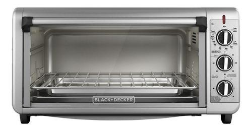 Imagen 1 de 3 de Horno de mesa eléctrico Black+Decker TO3260XSBD plateado 120V