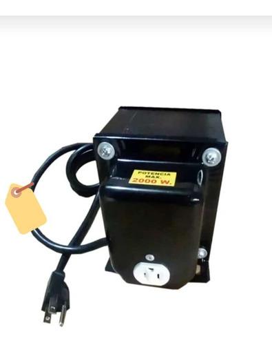 Imagen 1 de 5 de Transformador De 2000 Watts De ( 220v. A 110-115-120 V. )