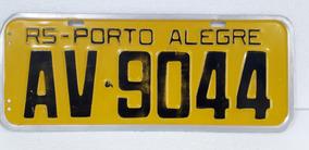 Placa Amarela Antiga Porto Alegre Original Coleção Decoração