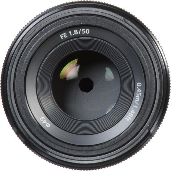 Lente Sony Fe 50mm F/1.8 E-mount Sel50f18f Novo P/ Entrega..