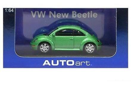 1:64 Autoart 20171 Vw New Beetle Green Fusca