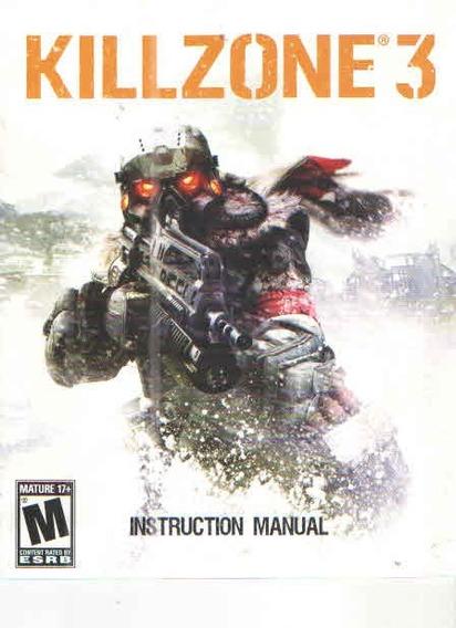 Manual De Instrucoes Jogo Killzone 3 /ps3