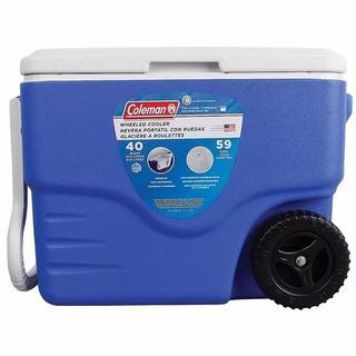 Caixa Térmica Cooler Coleman 40qt - 38 Litros Com Rodas