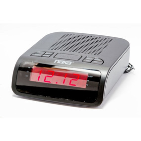 Rádio Relógio Digital Am Fm 2 Alarmes Naxa Nrc-174 Preta
