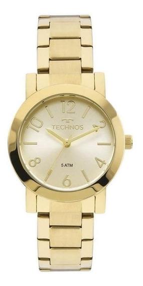 Relógio Technos Feminino Dourado 2035mln4x