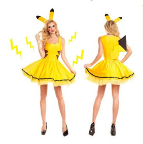 Roupa Cosplay Pikachu Pokemon Detetive Pikachu