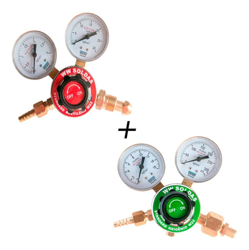 Regulador De Oxigênio W22 + Regulador De Acetileno W23