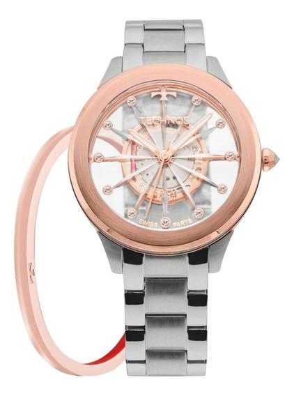Kit Relógio Technos Fem. Essence F03101ab/k1 Com Bracelete