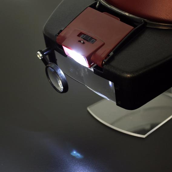Lupa De Cabeça Profissional Luz Led Para Estetica Eletronica