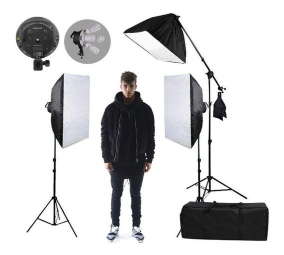 Kit Iluminação Eros Estudio Profissiona Completo Softbox 110