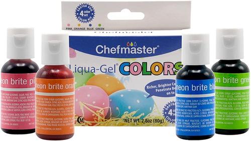 Chefmaster Liqua-gel (4 Unidades) Kit De Decoración