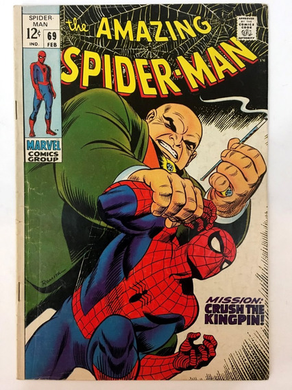 Amazing Spiderman #69 Marvel Comics 1969 Stan Lee Romita Sr