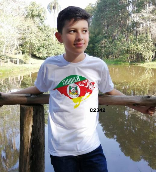 Blusa Infantil Menino Bandeira Rio Grande Do Sul C2342