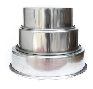 Set Tortera *3 Redondo Aluminio Puro 22,26,32 Cms