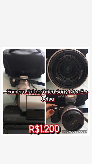 Câmera Fotográfica Sony Nex-5 + Bolsa