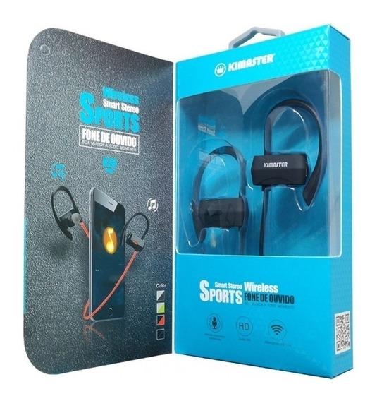 Fone De Ouvido Bluetooth Sports Kimaster K30 Som Limpo
