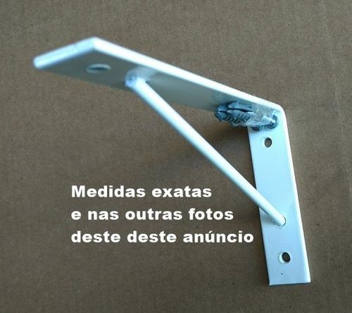 Imagem 1 de 4 de Cantoneira Mão Francesa Branca 20cm Sm 19x14 Eb - 1 Pç