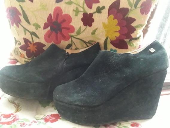 Zapatos De Nazaria Gamuza N° 38 Con Cierre Parte Interna