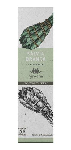 Incenso Nirvana Sálvia Branca Cx.9v.