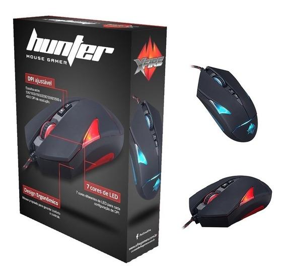Mouse Gamer Xfire 4000dpi Hunter Tecdrive Led Cores
