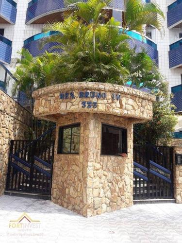 Imagem 1 de 23 de Apartamento Com 1 Dormitório À Venda, 70 M² Por R$ 210.000,00 - Tupi - Praia Grande/sp - Ap2736