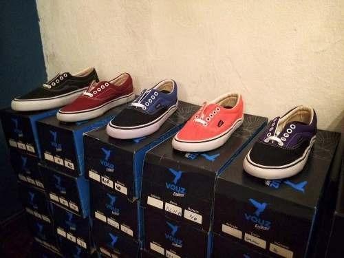 Zapatillas Tipo Vans Lona Skate Casual Tipo Panchas Colores