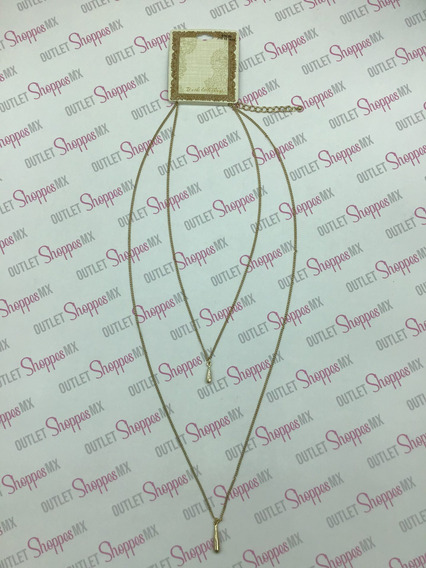 Gotas De Oro Collar Largo De Dama (target Corp $ Dlls)
