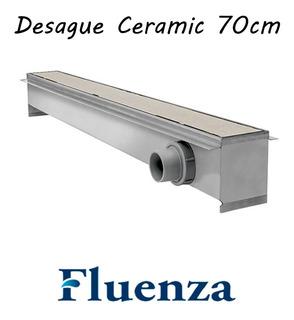 Rejilla Desague Baño Lineal Fluenza Ceramic 70cm