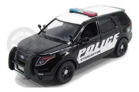 Miniatura Ford Police Interceptor 2015 Preto 1/24 Motormax