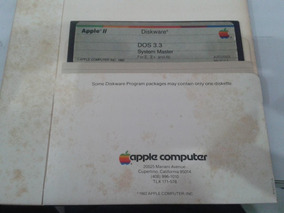 Software Original Dos 3.3 P/ Apple Iie ( Made In Usa ) 360kb