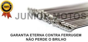 Jogo De Raios 100% Inox Bace 4mm Par Sahara Honda