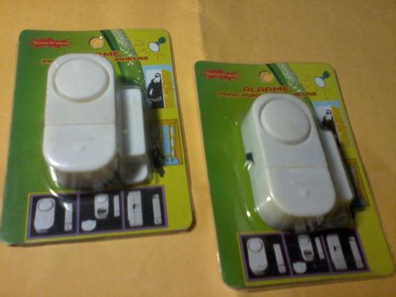 2 Alarmes Para Portas E Janelas Com Sirene Eletrônica