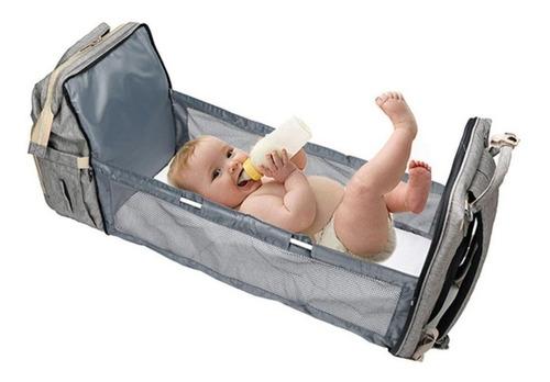 Bolsa Maternidade Mochila Berço Impermeável Multifunção