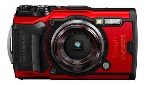 Câmera Olympus Tough Tg-6 - Vermelho
