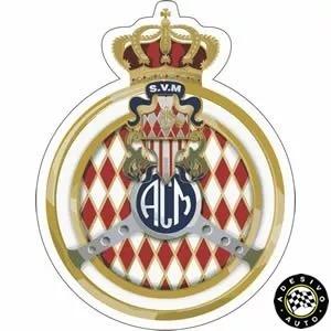 Adesivo Automóvel Clube De Mônaco Automobile Club De Monaco