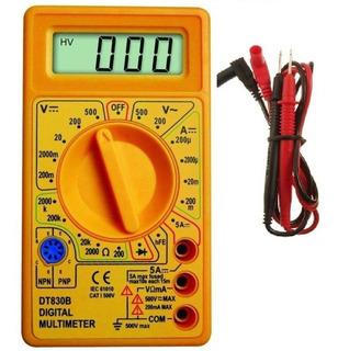 Multimetro Digital Com Cabo De Multiteste Testador Ac Dc
