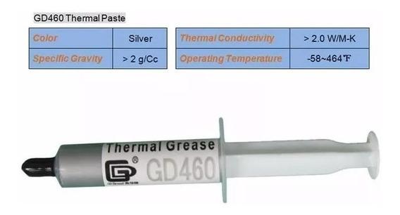 Pasta Térmica Gris Gd460 Silver 7 Gramos Cpu Gpu Chips Leds.