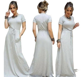 Vestido Longo Evangelica Plus Size Veste 46 Moda Feminina