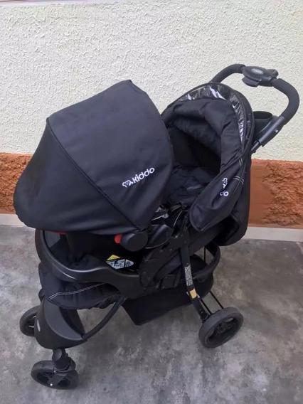 Carrinho De Bebê + Bebê Conforto Kiddo Omega