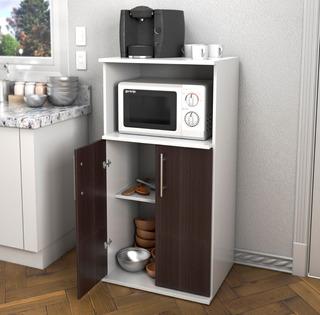 Mueble Microondas Cocina Organizador Melamina Oferta