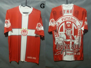 Camisa Máfia Vermelha Zona Sul Do América De Natal