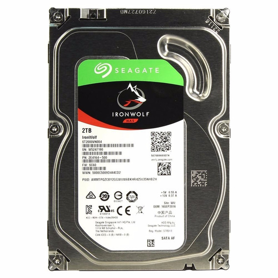 Hd 2tb Seagate Ironwolf Nas 5400rpm 64mb Cache
