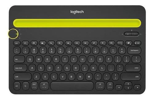 Imagen 1 de 3 de Teclado bluetooth Logitech K480 QWERTY inglés US color negro