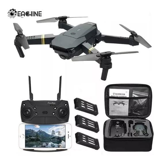 Drone Eachine E58 Câmera 2mp Wifi Fpv 3 Baterias Quadcoptero