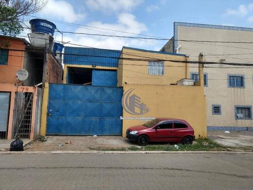 Galpão Para Alugar, 480 M² Por R$ 4.800,00/mês - Vila Nova Bonsucesso - Guarulhos/sp - Ga0533