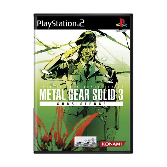 Metal Gear Solid 3 Subsistence Ps2 Mídia Física