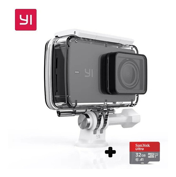 Câmera De Ação Xiaomi Yi Discovery 4k + Caixa Estanque +32gb